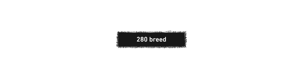 280 breed stoffen